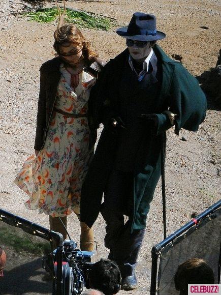 Johnny Depp as Barnabas Collins on the <strong><em>Dark Shadows</em></strong> Set #2