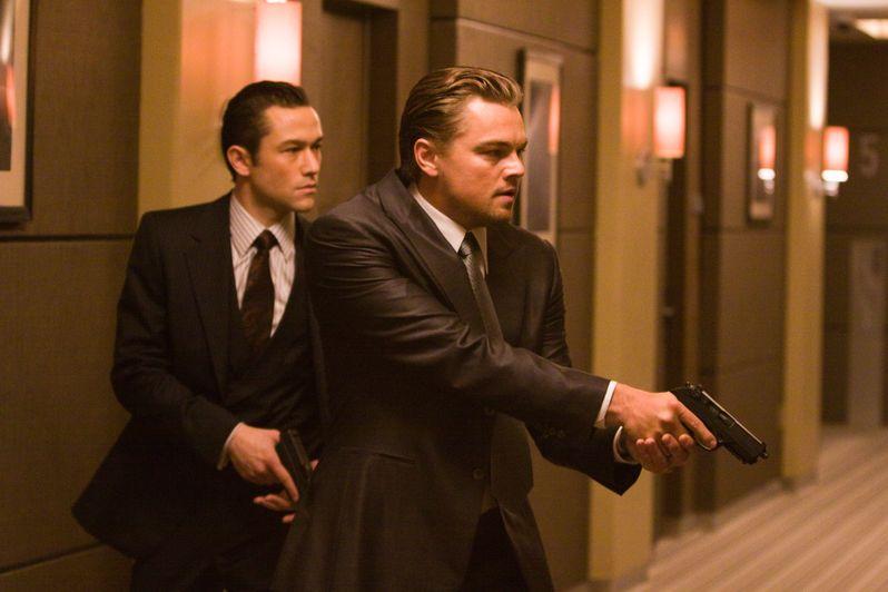 Leonardo DiCaprio and Joseph Gordon-Levitt in <strong><em>Inception</em></strong>
