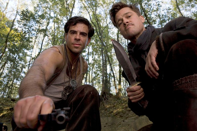 Eli Roth as Sgt. Donnie Donowitz and Brad Pitt as Lt. Aldo Raine