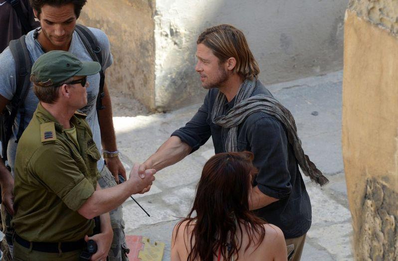 Brad Pitt on the set of <strong><em>World War Z</em></strong> #5