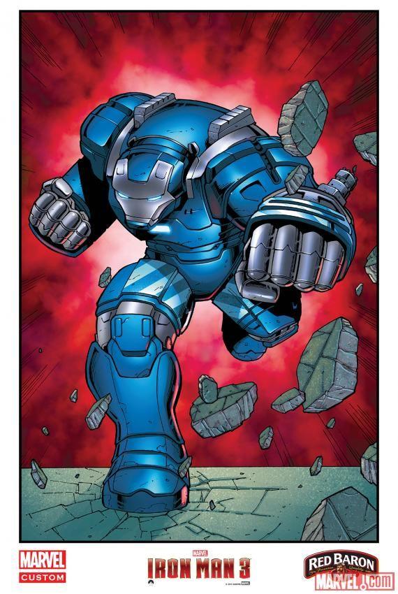 <strong><em>Iron Man 3</em></strong> Comic Art Poster 5