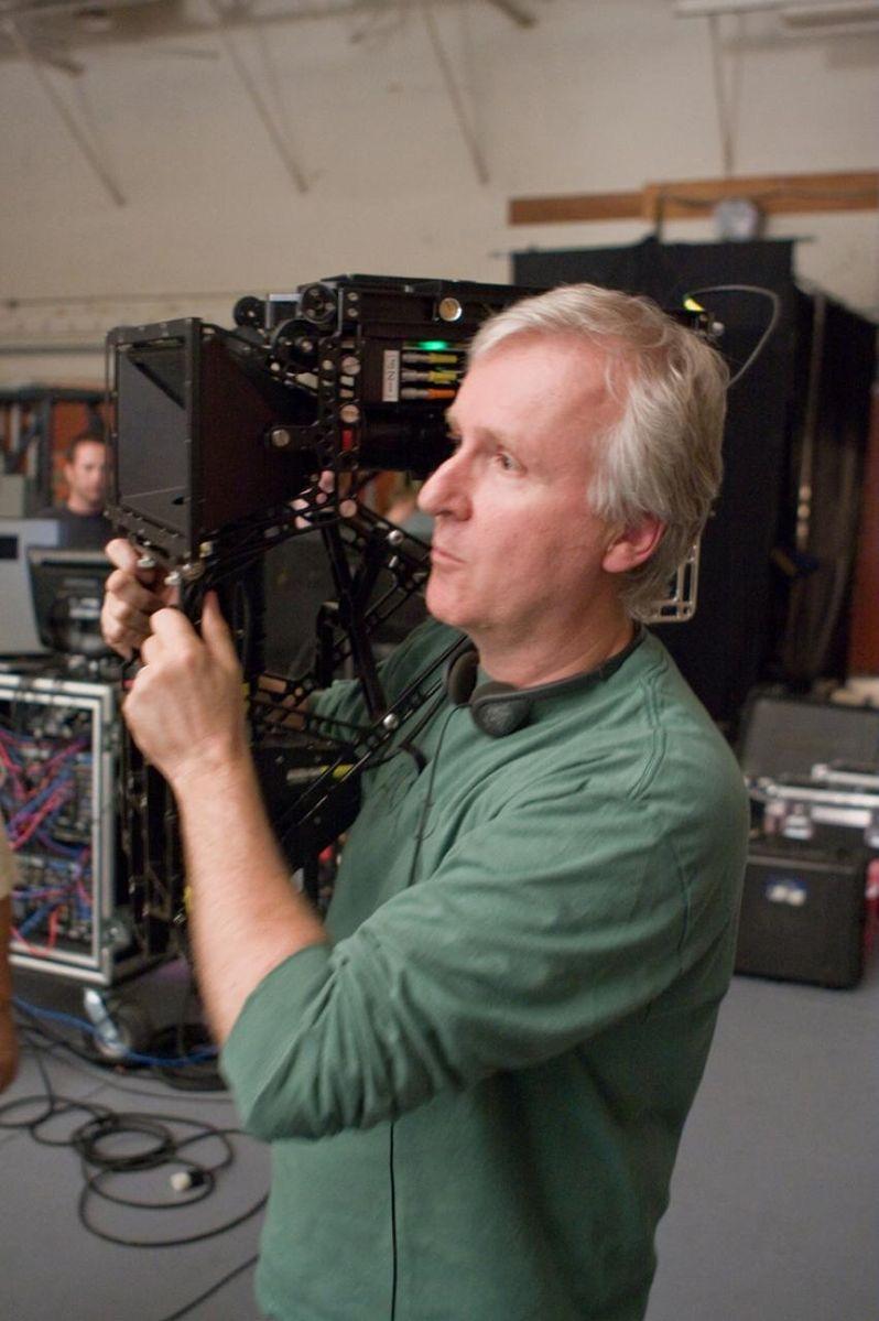 James Cameron on the set of <strong><em>Avatar</em></strong>