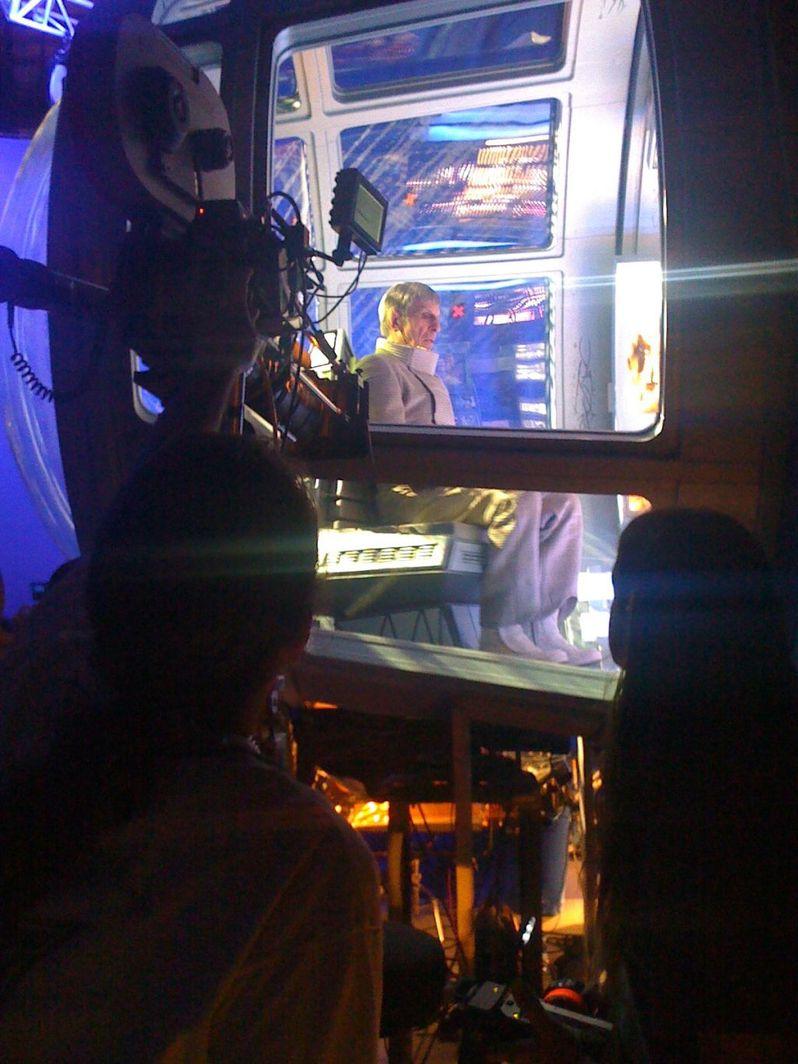 Leonard Nimoy on the set of Star Trek 2