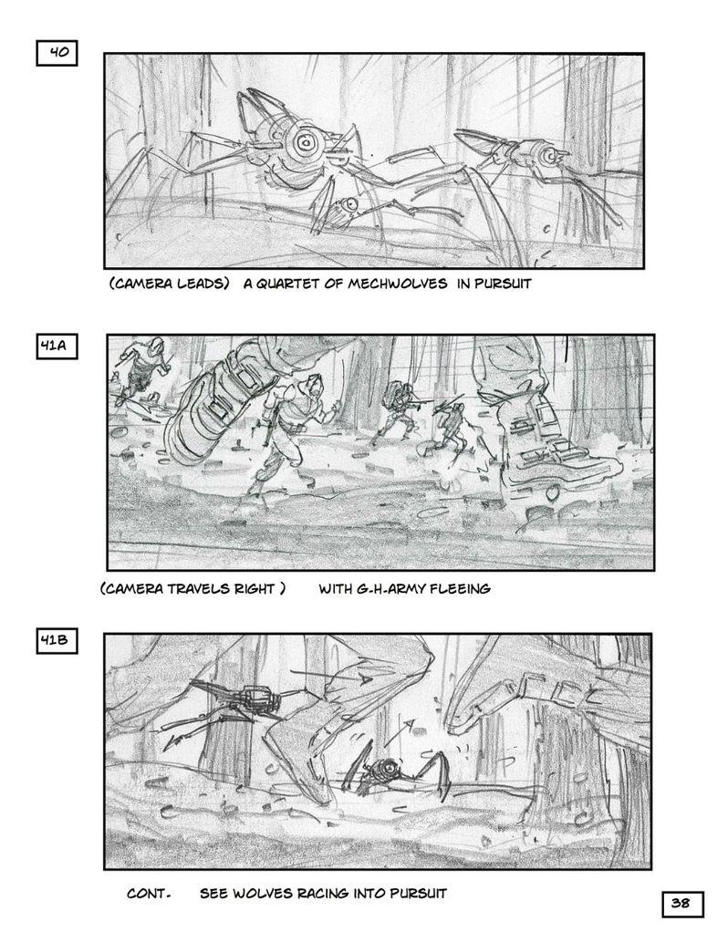 <strong><em>Robopocalypse</em></strong> Storyboard 3