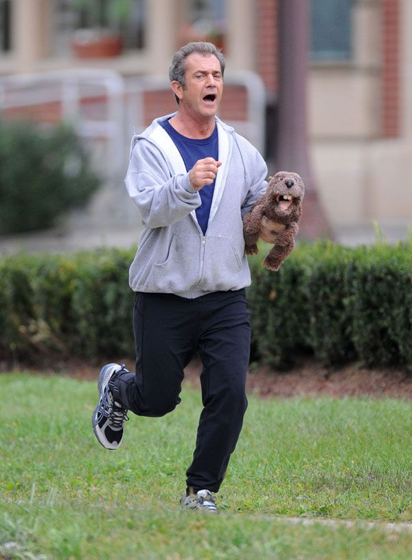 Mel Gibson Running in <strong><em>The Beaver</em></strong>
