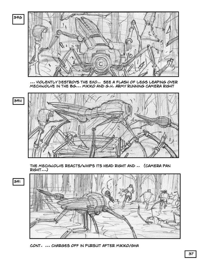 <strong><em>Robopocalypse</em></strong> Storyboard 2