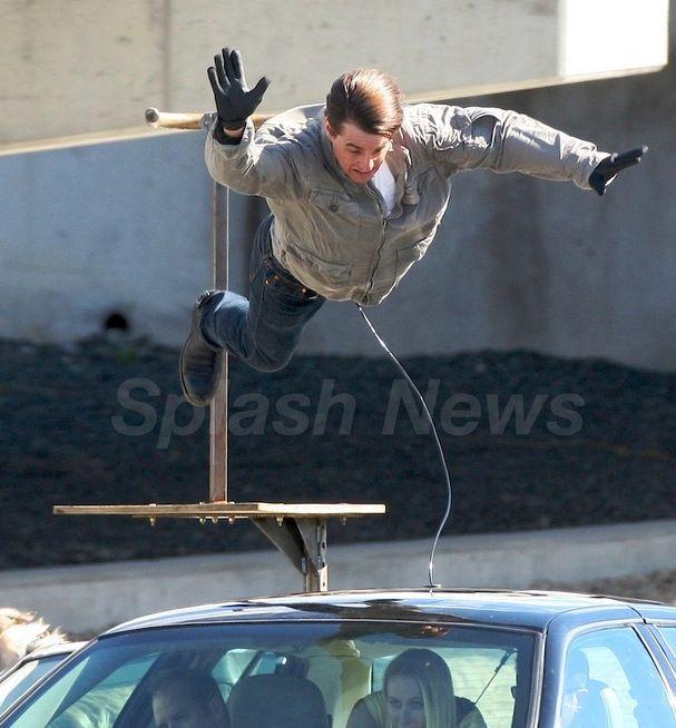 Tom Cruise on the set of Wichita