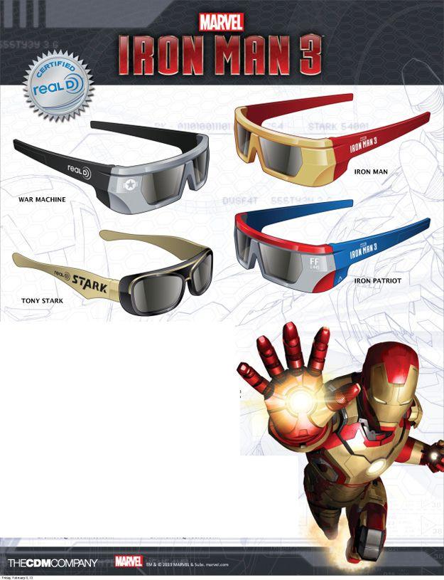 <strong><em>Iron Man 3</em></strong> Real D 3D glasses photo