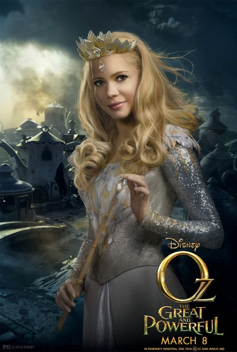 Oz the Great and Powerful Glinda the Good Witch Poster with Michelle Williams