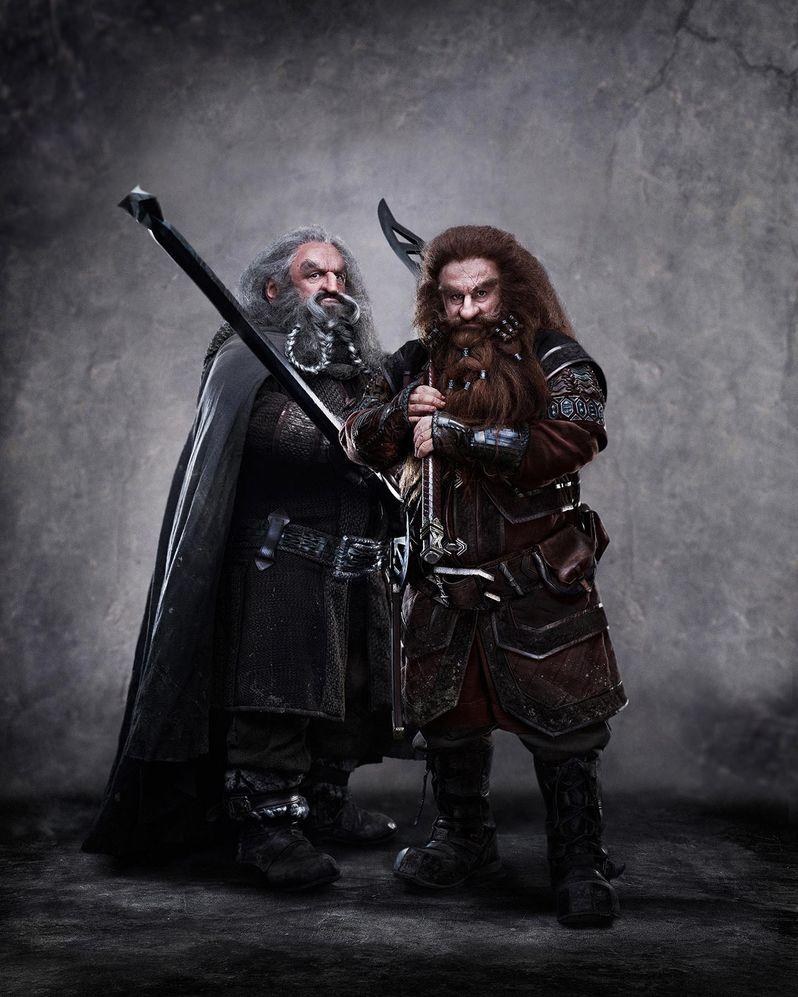 John Callen as Oin and Peter Hambleton as Gloin in The Hobbit