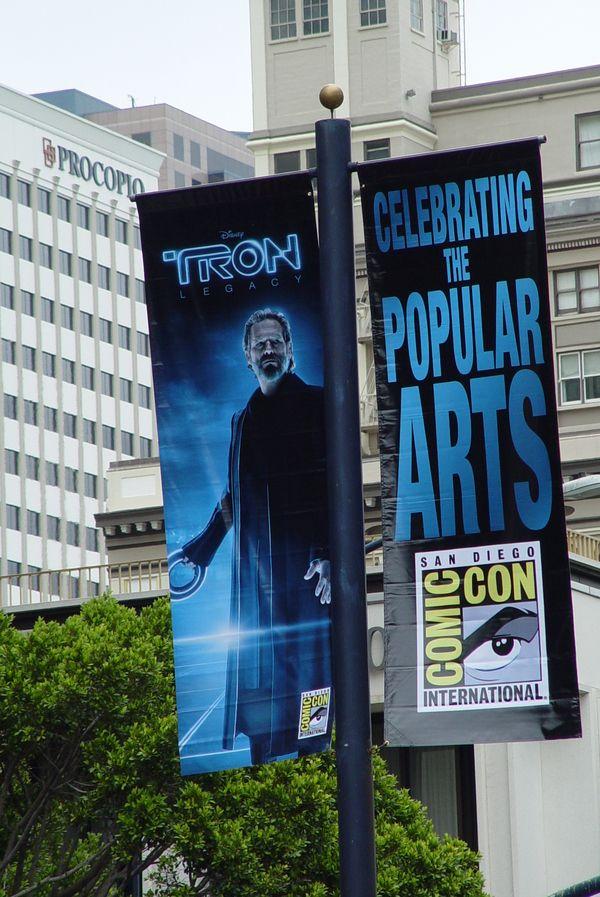 Tron Legacy Comic-Con 2010 banner