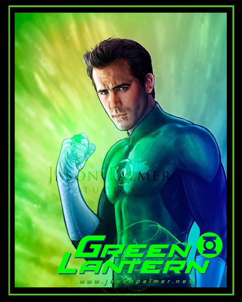 Ryan Reynolds as the <strong><em>Green Lantern</em></strong> Concept Art