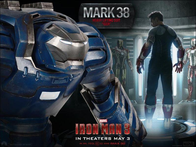 <strong><em>Iron Man 3</em></strong> Mark 38 Armor Photo