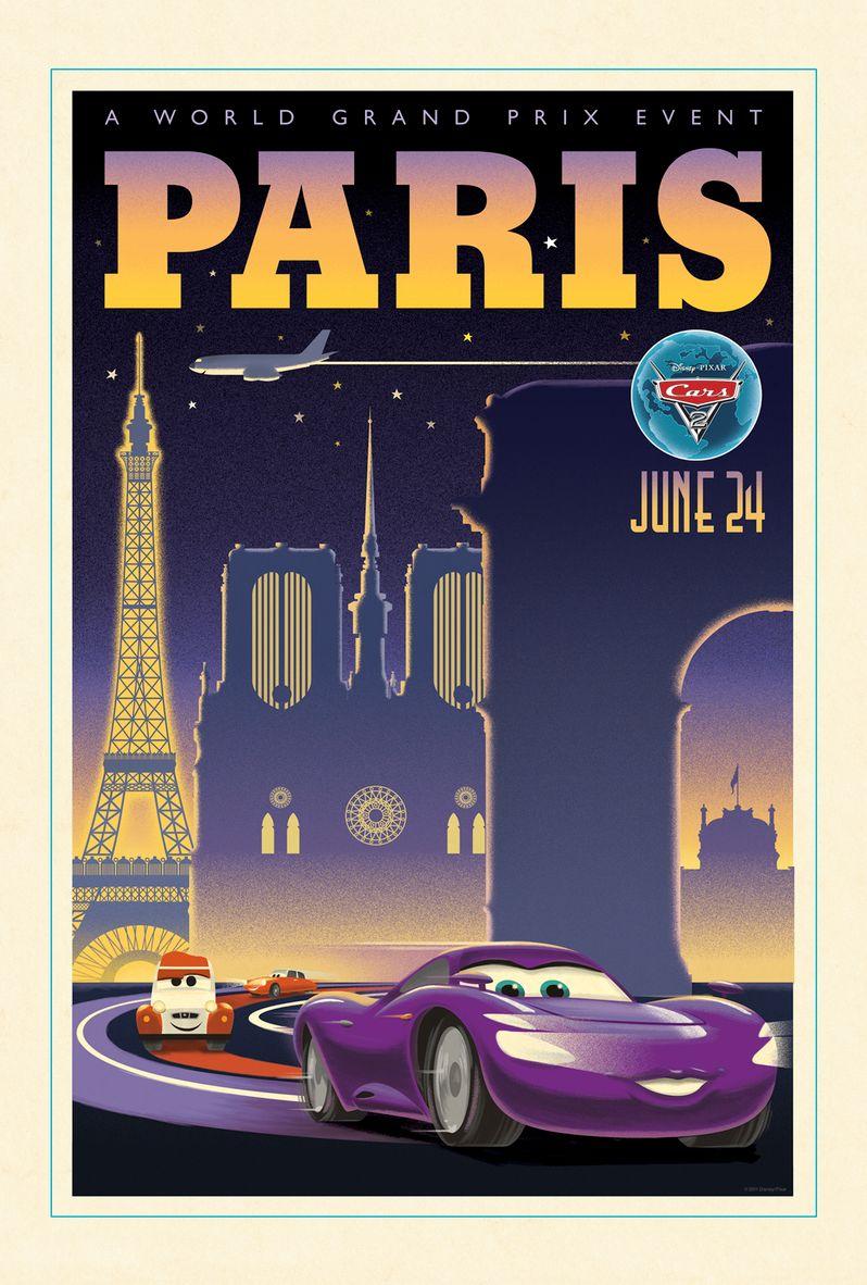 <strong><em>Cars 2</em></strong> Retro Poster #1