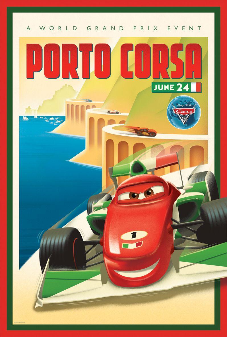 <strong><em>Cars 2</em></strong> Retro Poster #3