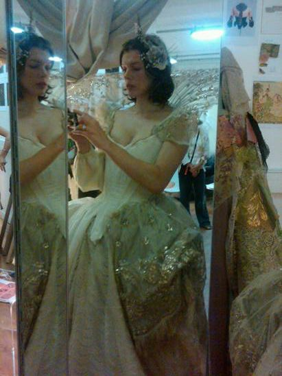 Milla Jovovich Three Musketeers costume fittings #1