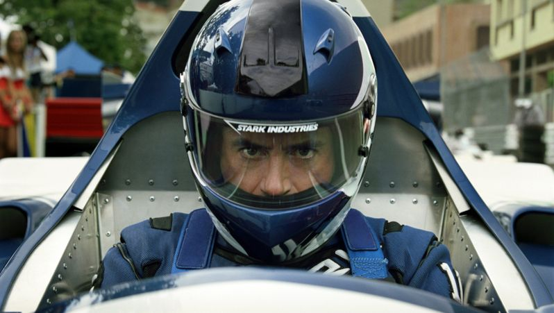 Tony Stark hits the race track<strong><em>Iron Man 2</em></strong>