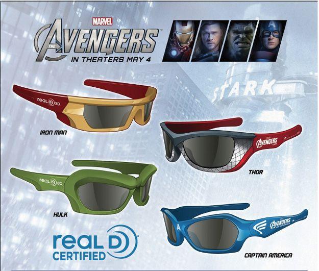 The Avengers 3D Glasses