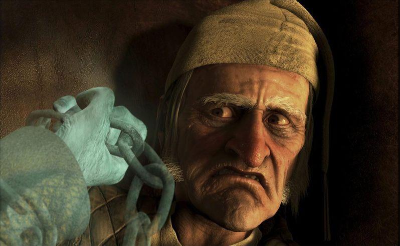 Jim Carrey plays Ebenezer Scrooge in Disney's A Christmas Carol
