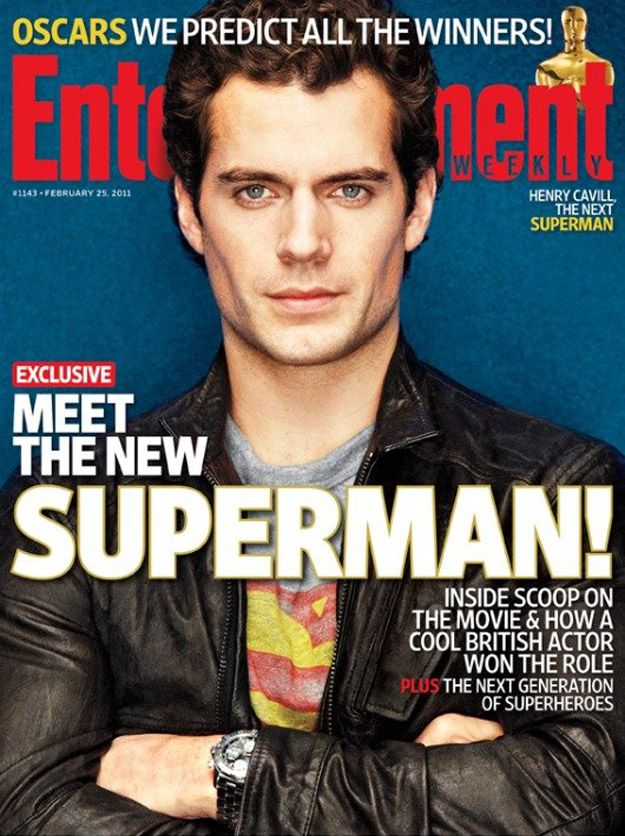Superman's Henry Cavil EW Cover