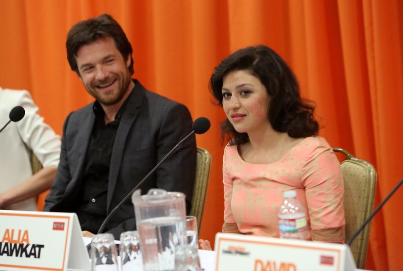 Jason Bateman and Alia Shawkat at the <strong><em>Arrested Development</em></strong> Season 4 press conference