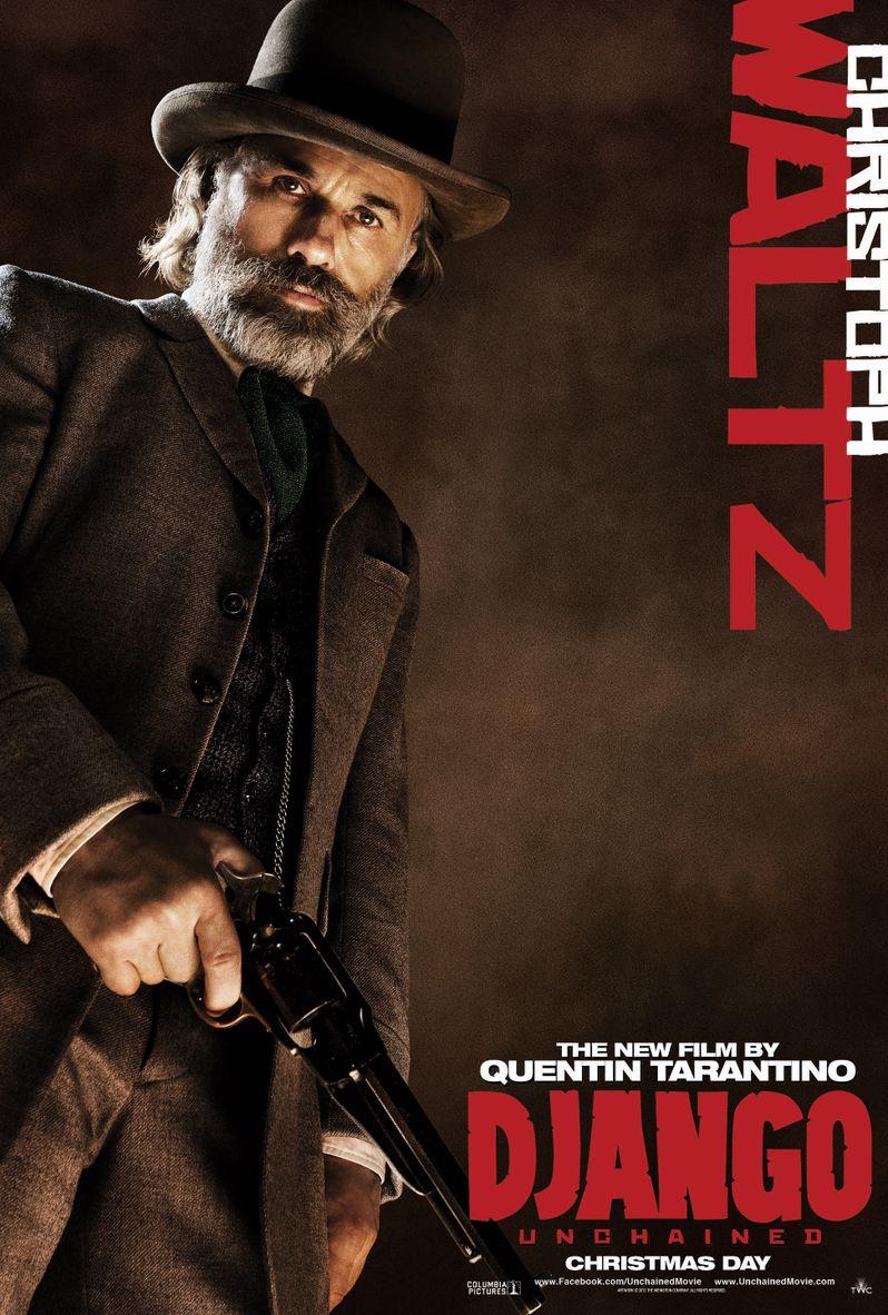 <strong><em>Django Unchained</em></strong> Christoph Waltz Poster