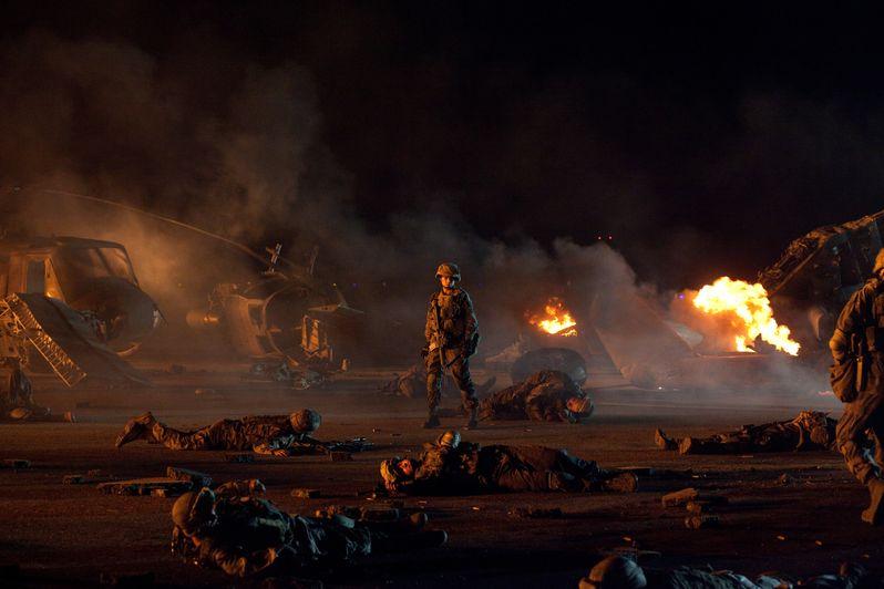 Michelle Rodriguez on the <strong><em>Battle: Los Angeles</em></strong> set
