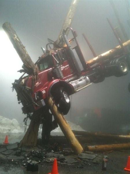 Superman: <strong><em>Man of Steel</em></strong> Logging Truck Photo
