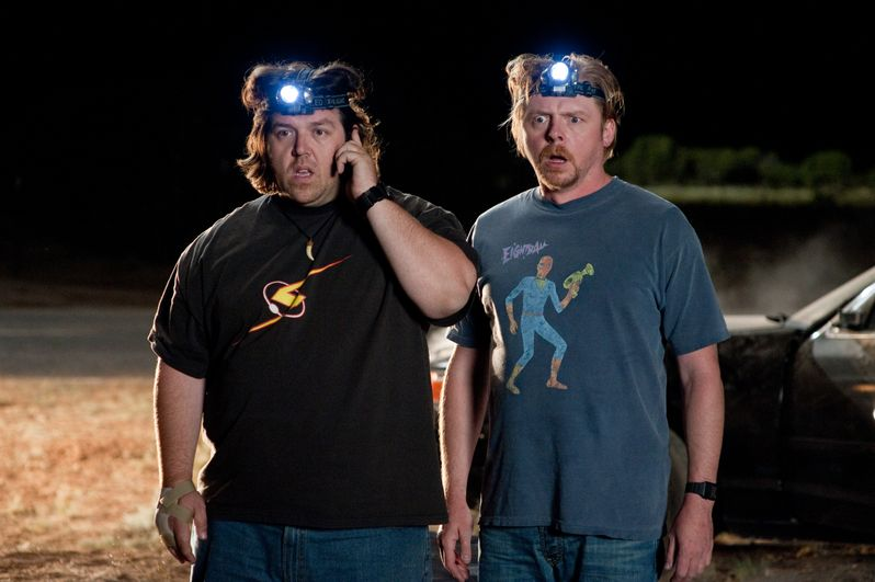 Clive (Nick Frost) and Graeme (Simon Pegg)
