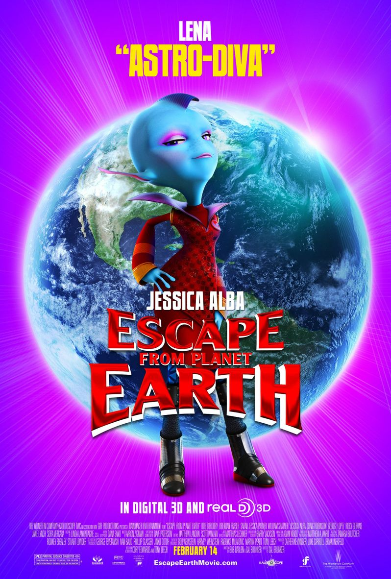 Escape From Planet Earth Lena Thackelham Character Poster