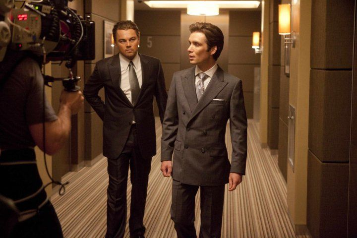 Leonardo DiCaprio and Cillian Murphy in <strong><em>Inception</em></strong>