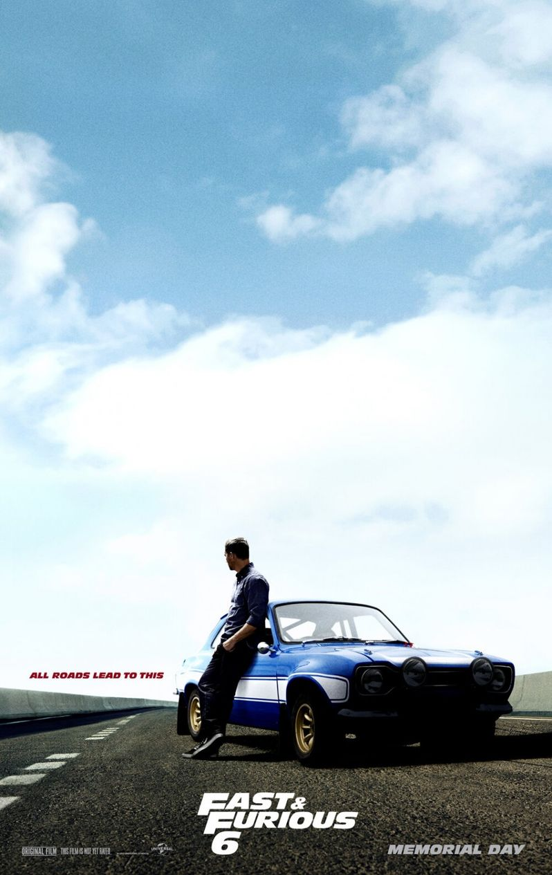 <strong><em>Fast & Furious 6</em></strong> Paul Walker Character Poster