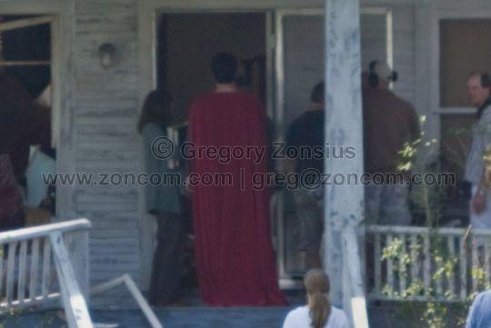 Superman on the <strong><em>Man of Steel</em></strong> set #3
