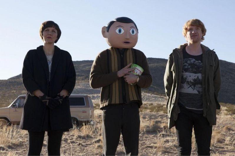 <strong><em>Frank</em></strong> Photo with Maggie Gyllenhaal and Michael Fassbender as <strong><em>Frank</em></strong> Sidebottom
