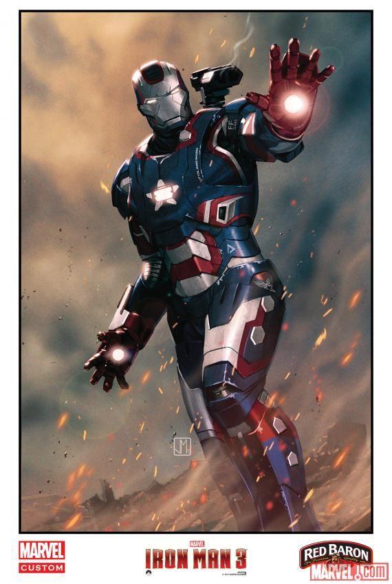 <strong><em>Iron Man 3</em></strong> Comic Art Poster 1