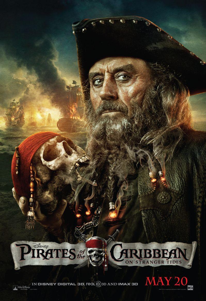 Pirates of the Caribbean 4 Blackbeard Poster
