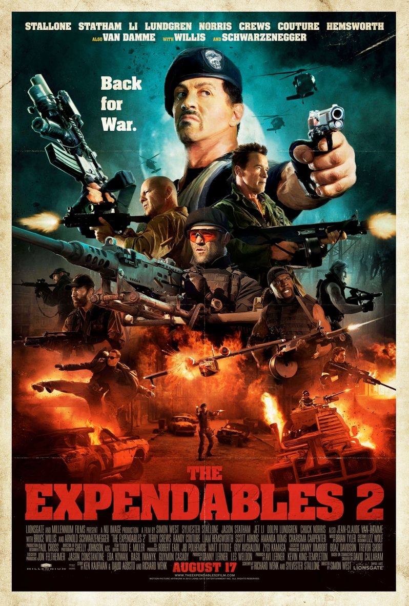 Expendables 2 Comic Con 2012 Poster