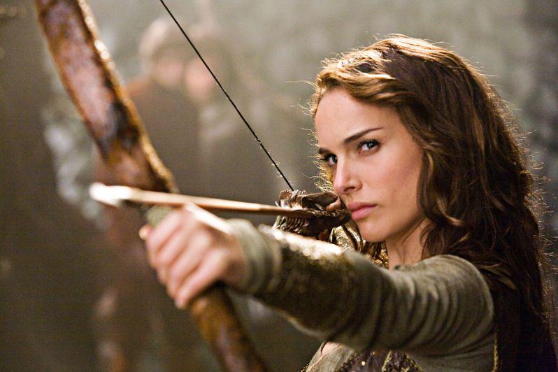 Natalie Portman in action on <strong><em>Your Highness</em></strong>
