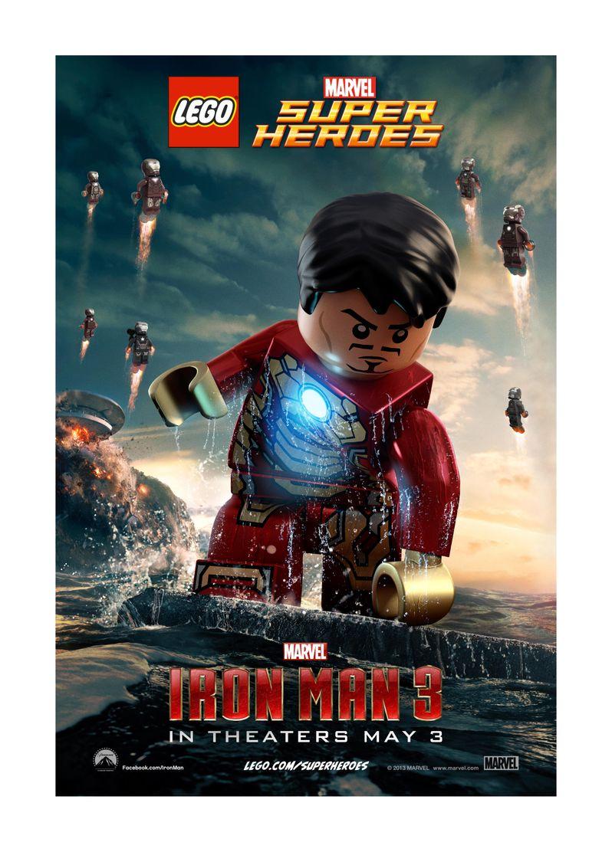 <strong><em>Iron Man 3</em></strong> Lego Poster 1
