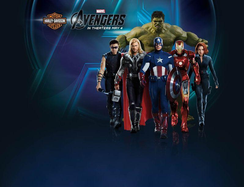 The Avengers Harley Davidson Promo Image
