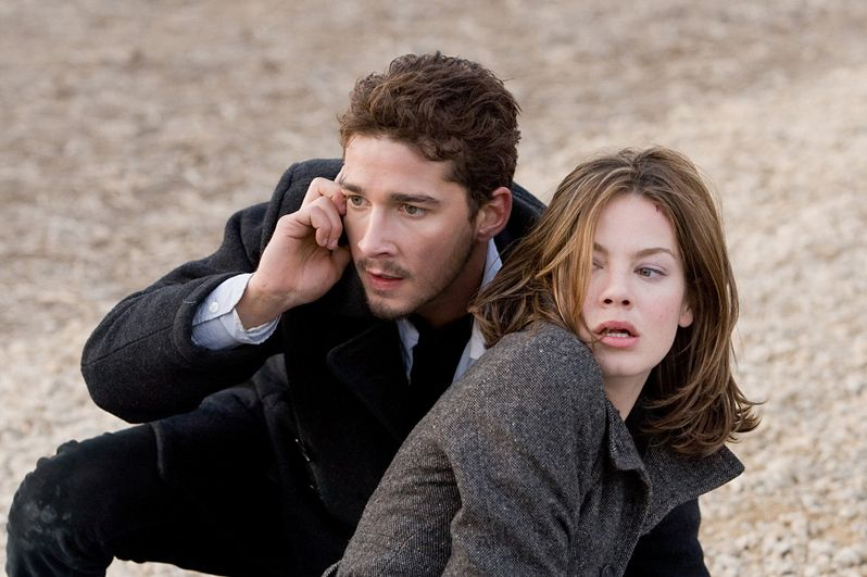 Shia LaBeouf and Michelle Monaghan in <strong><em>Eagle Eye</em></strong>
