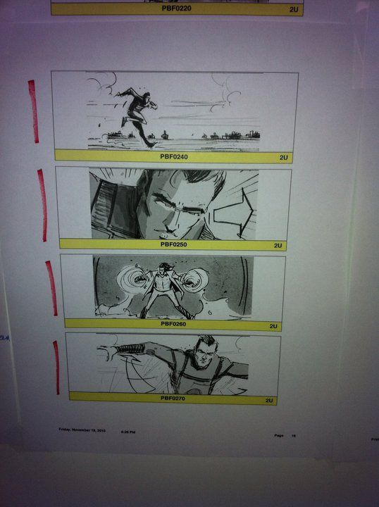 <strong><em>X-Men: First Class</em></strong> Storyboard
