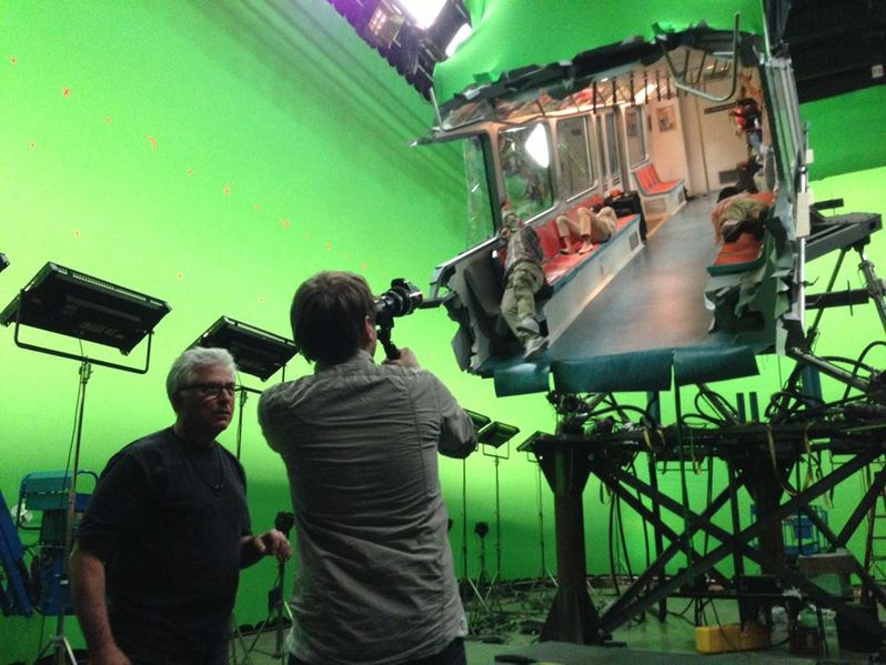 <strong><em>Godzilla</em></strong> behind-the-scenes photo