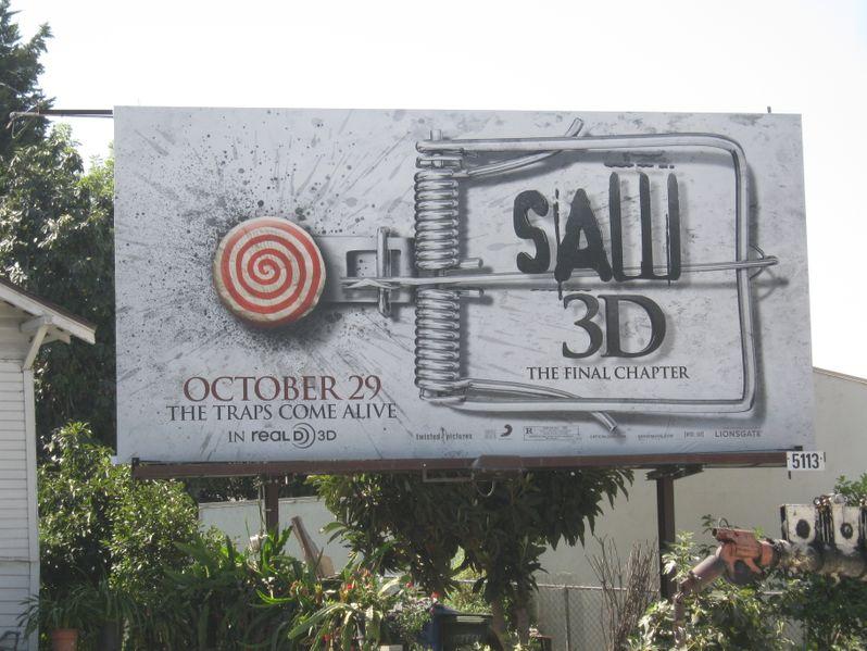 <strong><em>Saw 3D</em></strong> Billboard Outside