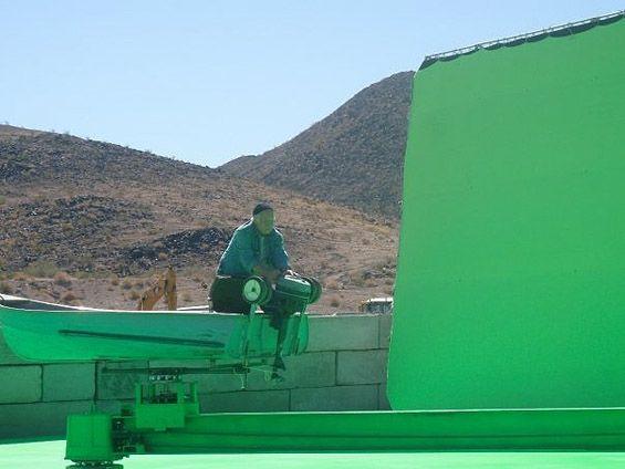 Richard Dreyfus on the set of <strong><em>Piranha 3D</em></strong>