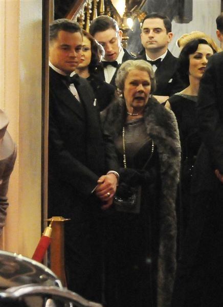 Judi Dench on the set of <strong><em>J. Edgar</em></strong>