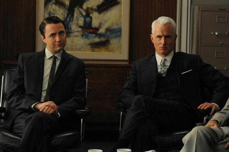 Vincent Kartheiser and John Slattery in <strong><em>Mad Men</em></strong>