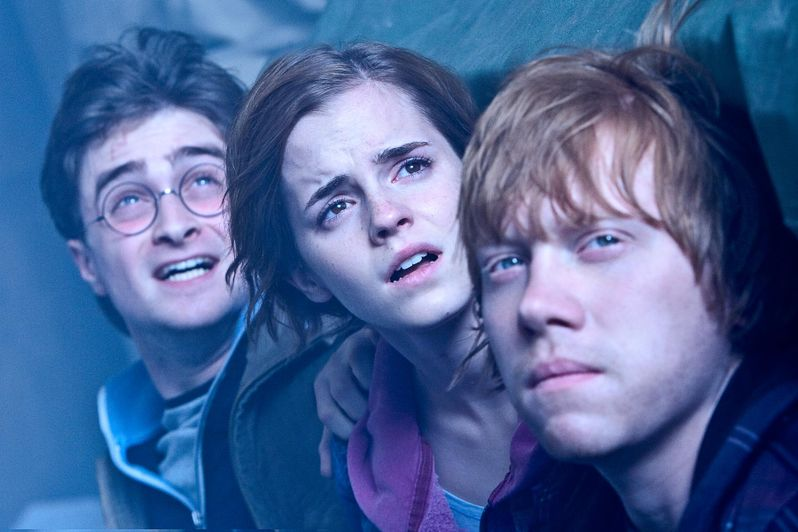 Daniel Radcliffe, Rupert Grint, Emma Watson in Harry Potter and the Deathly Hallows Part 2