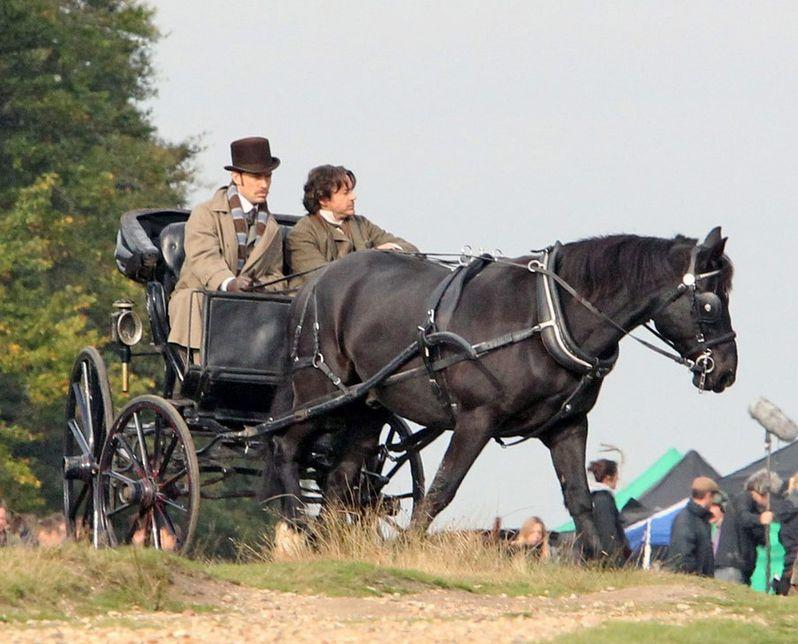 Sherlock Holmes 2 On Set photo 1