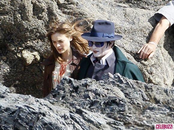 Johnny Depp as Barnabas Collins on the <strong><em>Dark Shadows</em></strong> Set #6